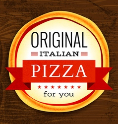 restaurant menu with pizza vector image vector image