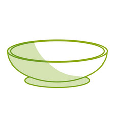 Silhouette bowl to prepare delicious and healthy vector