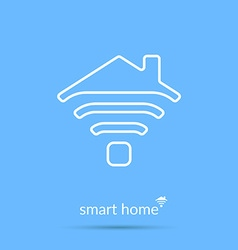 Smart home icon Element for cards poster and web vector image