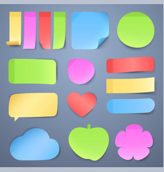 Sticky note papers memo stickers vector