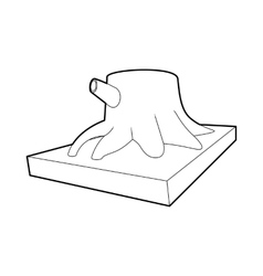 Stump icon outline style vector