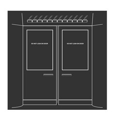 Subway doors vector