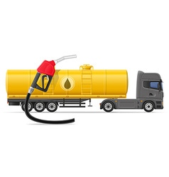 Truck semi trailer concept 05 vector
