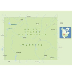 Usa wyoming small vector
