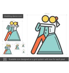 Wedding dance line icon vector
