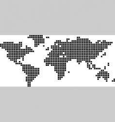 world map squares vector image