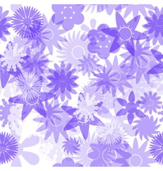 Seamless blue water colours simple floral pattern vector