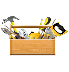 Toolbox with instruments vector