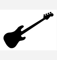 Bass guitar silhouette vector