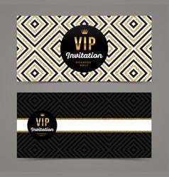 template design for vip invitation vector image