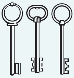 Silhouette of keys vector