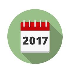 2017 calendar icon vector