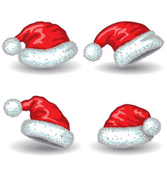Santa claus hats vector
