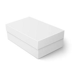 White cardboard shoebox template vector image