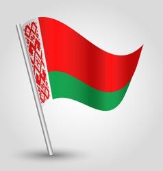 Flag belarus vector