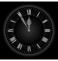 stylish black silver clock vector image