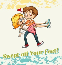 Swept off your feet vector