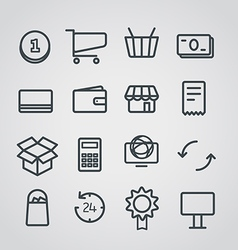 Different slyle of shopping icons collect vector image
