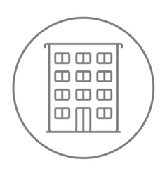 Residential building line icon vector