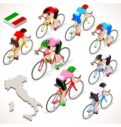 Cyclist 2016 giro italia isometric people vector
