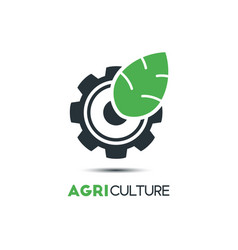 agriculture logo template icon design a leaf and vector image