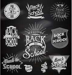 Back to School calligraphic designs vector image