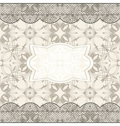 background with seamless pattern lacy borders and vector image vector image