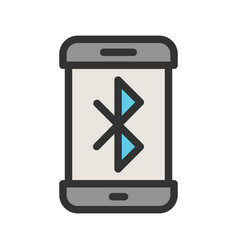 Bluetooth connectivity vector