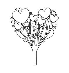 cartoon heart icon image vector image