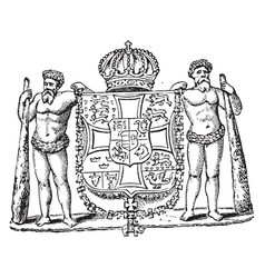 Coat of arms denmark vintage vector