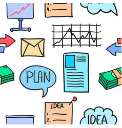 Collection stock of business object doodles vector