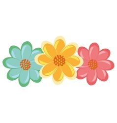 colorful flowers view graphic vector image