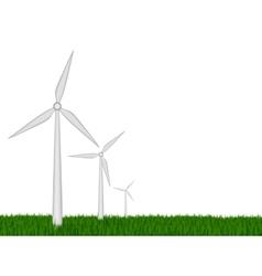 Green energy wind turbines vector