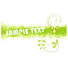 Green summer background vector