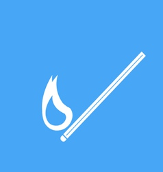 Icons burning match vector