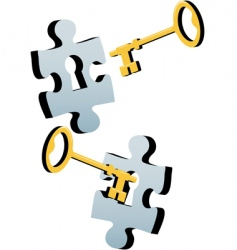 jigsaw key vector image