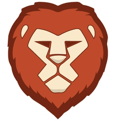 Lion face vector