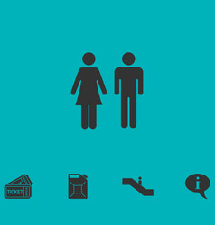 Man and woman icon flat vector