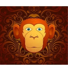 Monkey as symbol for year 2016 vector image vector image