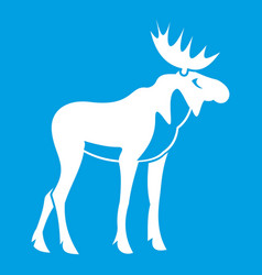Moose icon white vector
