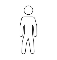 Pictogram man silhouette over white background vector