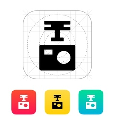 Portable drone camera icon vector