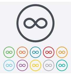 Repeat icon loop symbol infinity sign vector