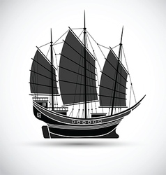 Sailing ship2 vector image vector image