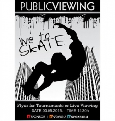 Skate board tournament flyer vector