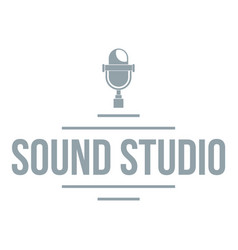 stereo studio logo simple gray style vector image vector image