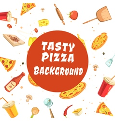 Tasty pizza making seamless pattern vector