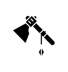 tomahawk icon black sign on vector image vector image