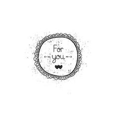 Vintage love label for greeting card vector image