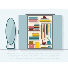 Wardrobe for cloths vector image